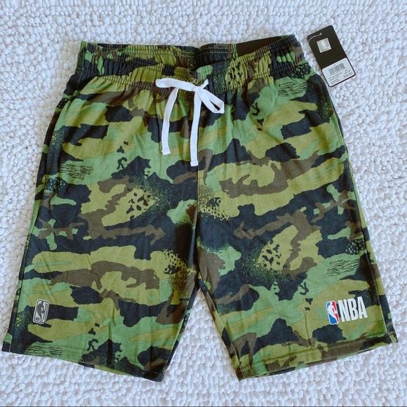 NBA Men's Basketball Shorts Green Camo S M L XL